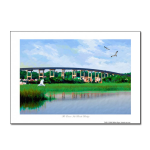 New Ocean Isle Beach Bridge painting print