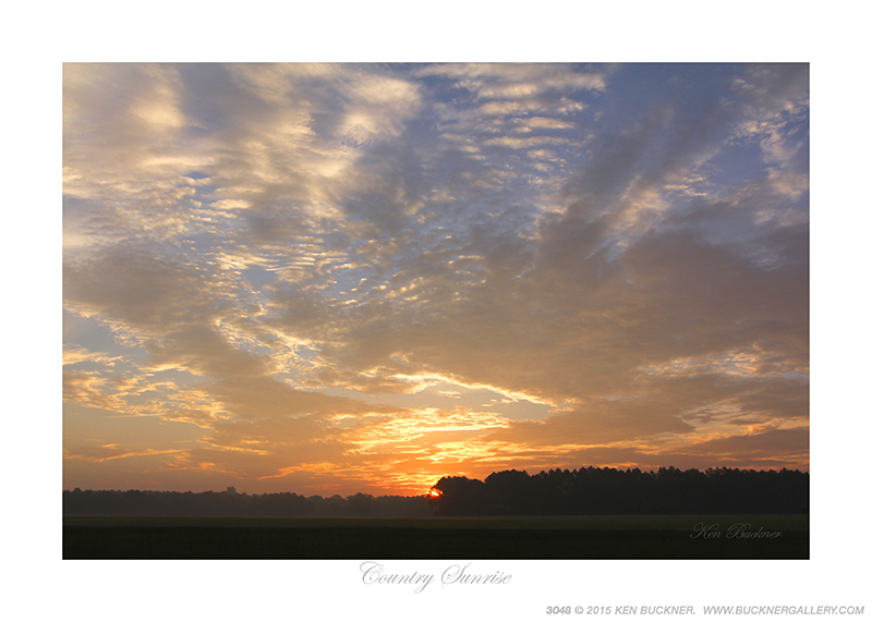 Country Sunrise Photo By Ken Buckner