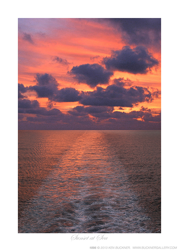 Sunset At Sea Photo By Ken Buckner