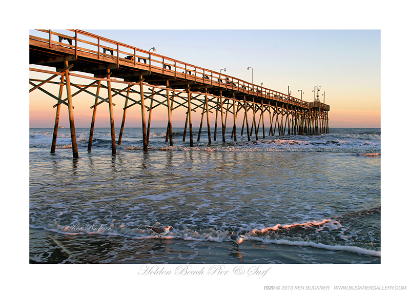 Holden Beach Pier Amp Surf Photo By Ken Buckner
