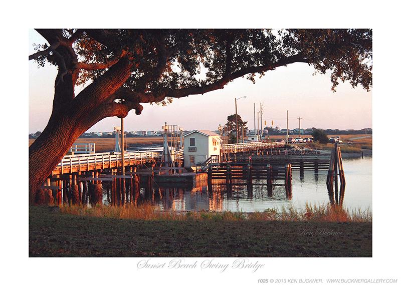 Sunset Beach Swing Bridge Photo By Ken Buckner