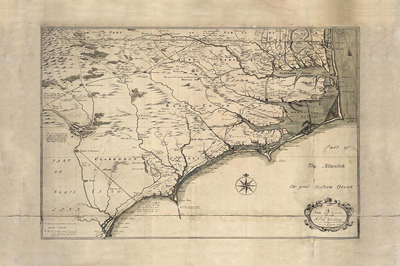 Historic North Carolina Coastal Map