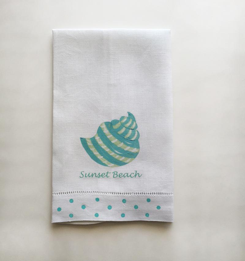 Sunset Beach Linen Towels