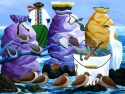 Oyster Bags and Clams by Ivey Hayes