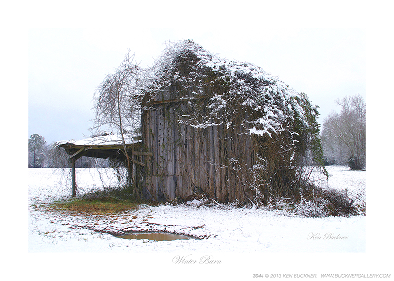 Winter Barn Ken Buckner