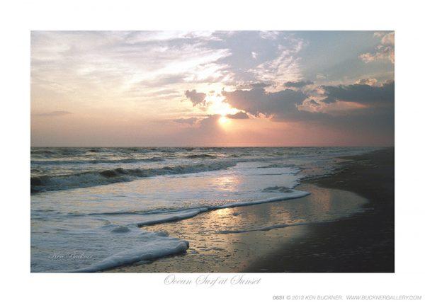 Ocean Surf at Sunset Ken Buckner