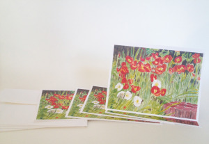 Note Cards Poppies