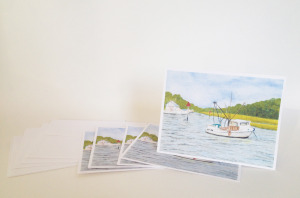 Note Cards Shrimp Boat