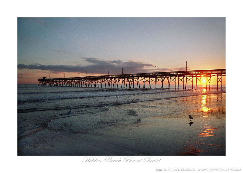 Holden Beach Pier at Sunset Ken Buckner
