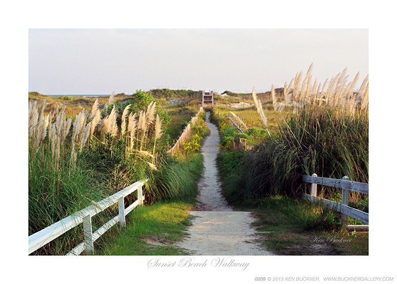 Sunset Beach Walkway Ken Buckner