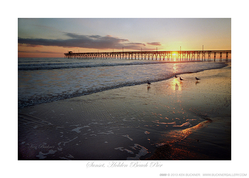 Sunset, Holden Beach Pier Ken Buckner