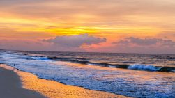 Golden Sunrise Ocean Isle Beach Photo by Dwayne Schmidt