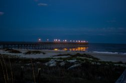Pier Lights Ocean Isle Beach Photo by Dwayne Schmidt