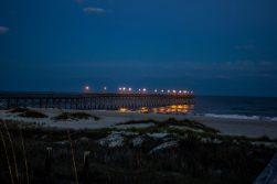 Pier Lights Ocean Isle Beach Photo by Dwayne Schmidt
