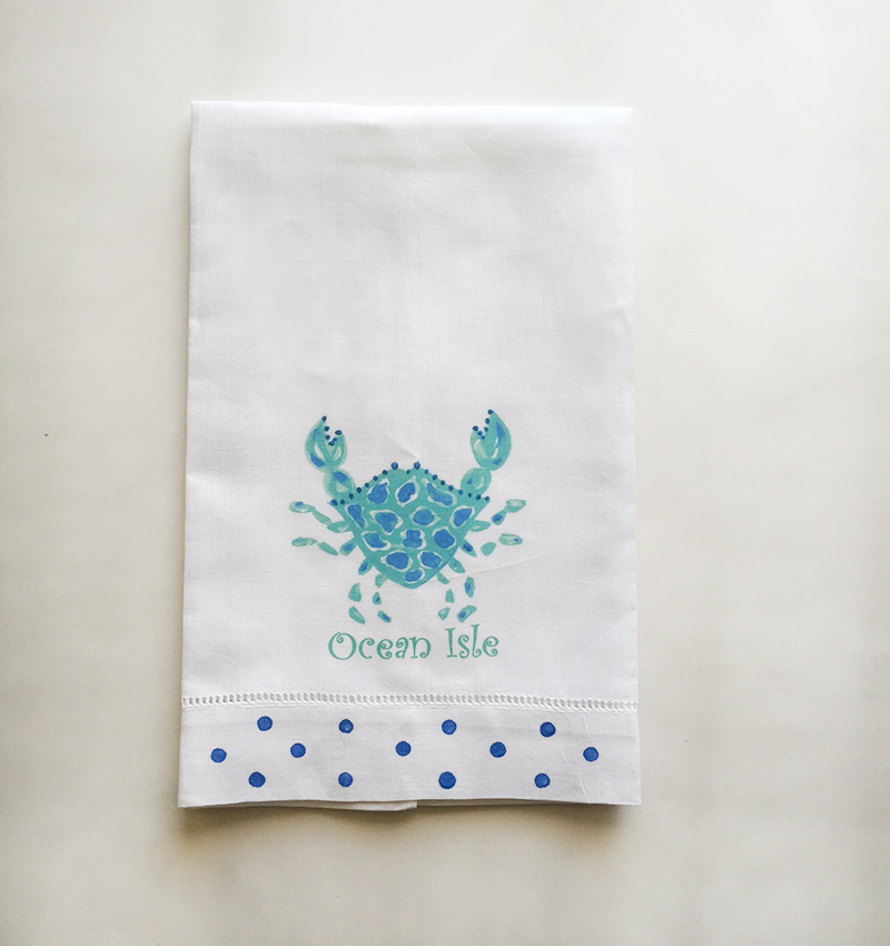 Crab Towel Ocean Isle Beach