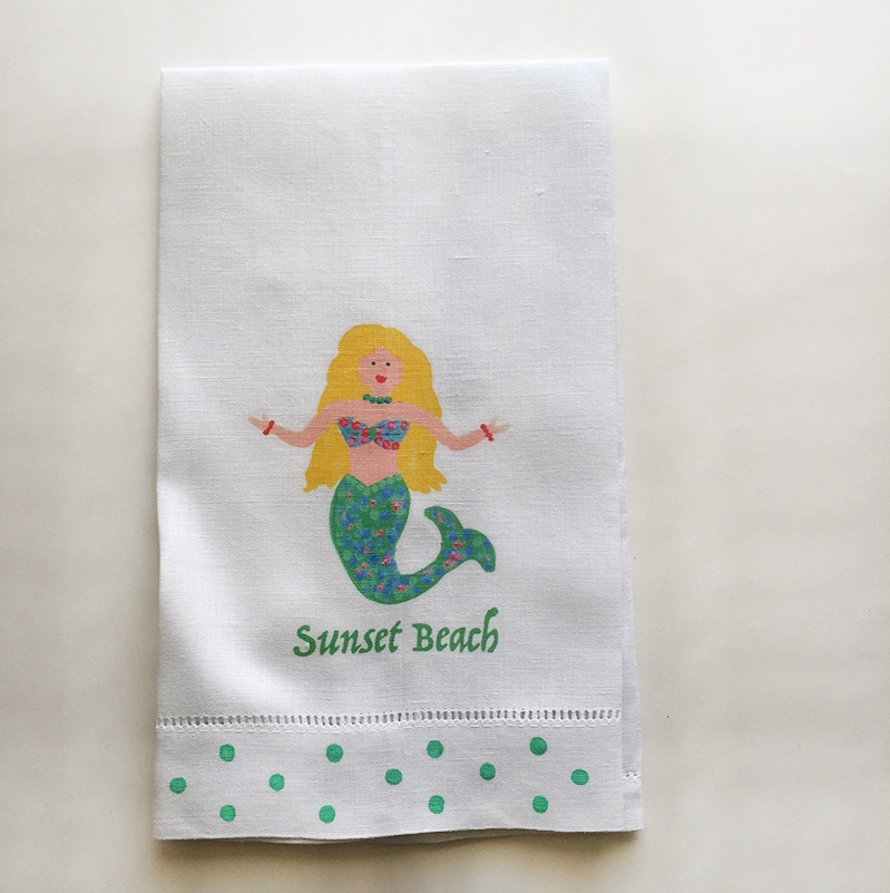 Mermaid Towel Sunset Beach