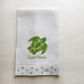 Sea Turtle Towel Sunset Beach