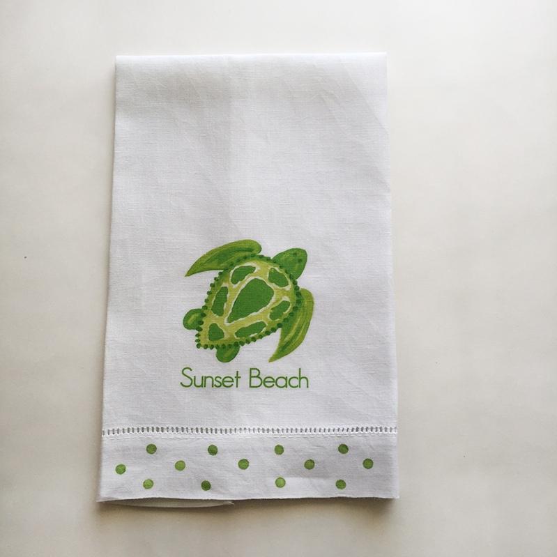 Sea Turtle Towel Sunset Beach