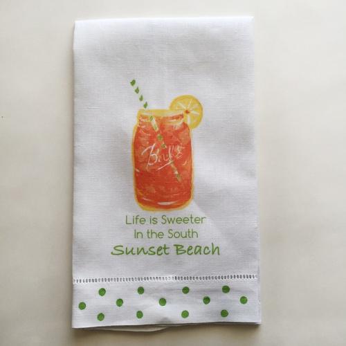 Sweet Tea Towel Sunset Beach