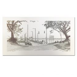 keith-white-old-sunset-beach-bridge-black-and-white-print