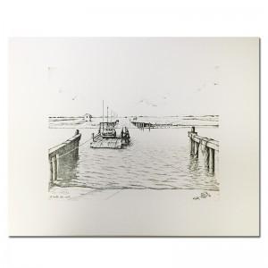 ocean-isle-beach-ferry-black-and-white-print-by-keith-white