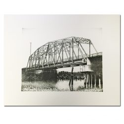 Old Ocean Isle Beach Bridge Black and White Print by Keith White