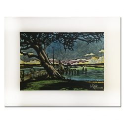 Old Sunset Beach Bridge Scratch Print by Keith White