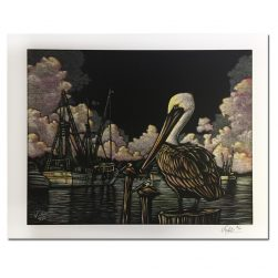 Pelican Scratch Print by Keith White
