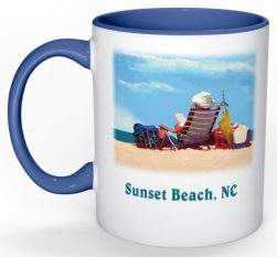 Holding Down the Fort Sunset Beach Mug