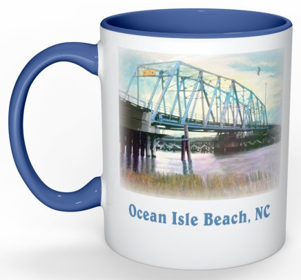 Old Ocean Isle Beach Bridge Mug