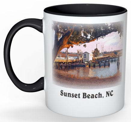 Old Sunset Beach Bridge Mug