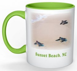 Steps to the Sea Sunset Beach Mug