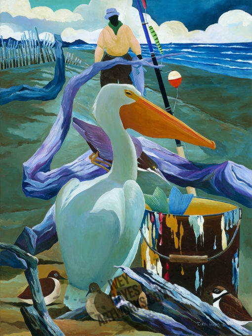 Ivey Hayes 1331-BEACH-PELICAN-9X12-PP-510x680