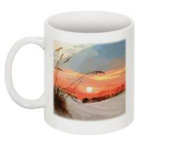 Sunset Over Sand Dunes Mug