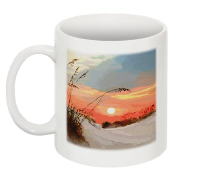 Sunset Over Sand Dunes Mug