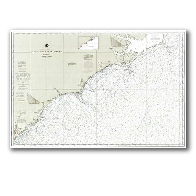 North Carolina Coast Nautical Chart