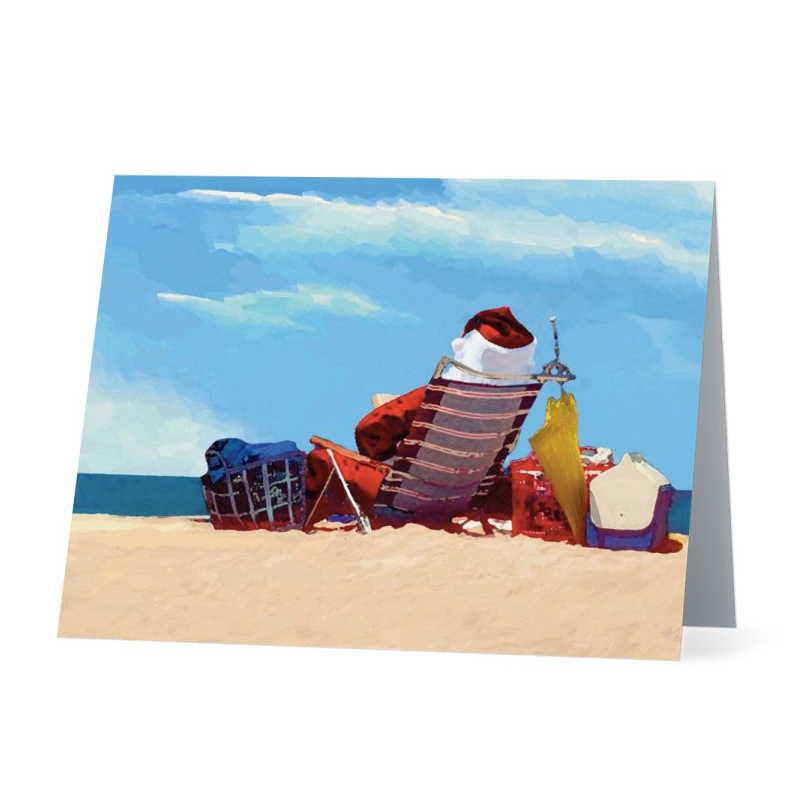 Beach Christmas Cards >> Santa On The Beach Christmas Card