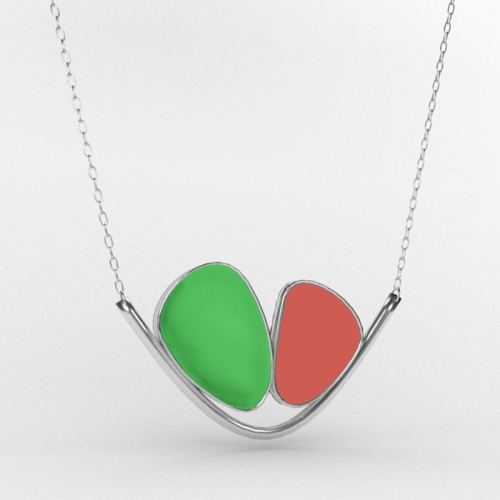 Sea-Glass-Valley-Necklace-Lime-and-Coral
