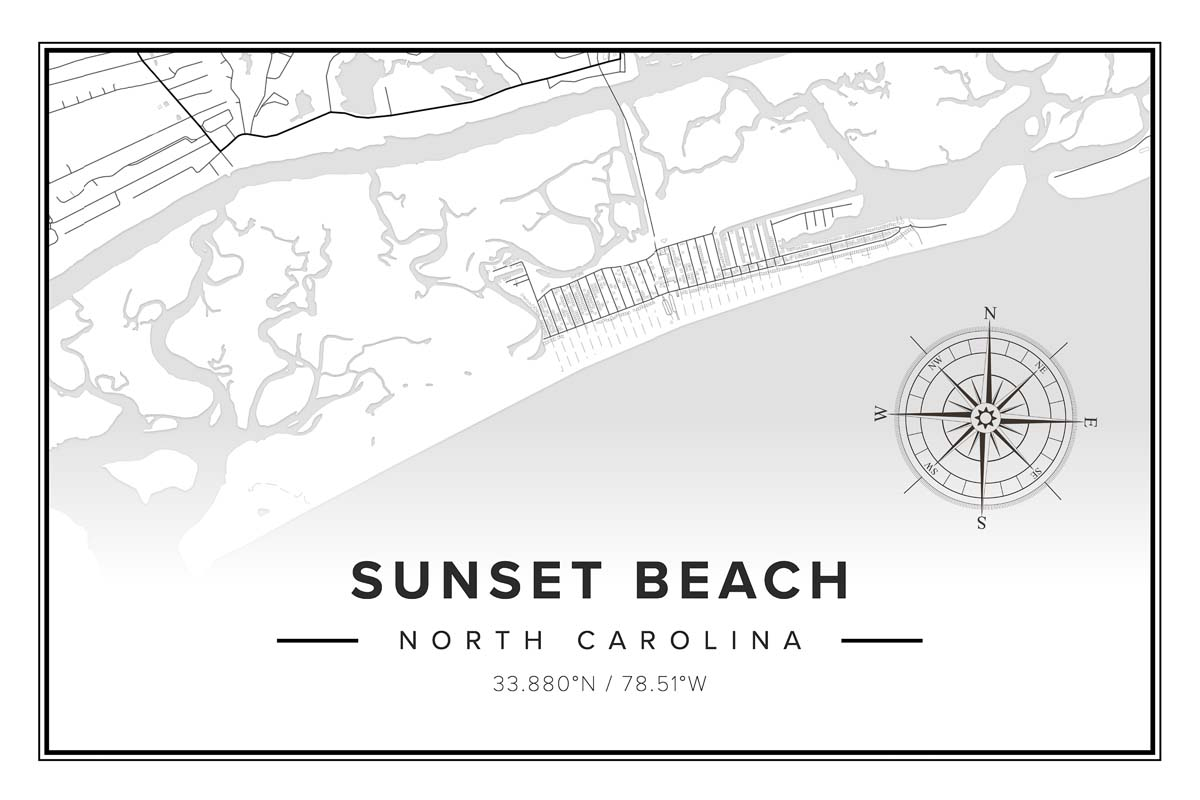 Sunset Beach Map